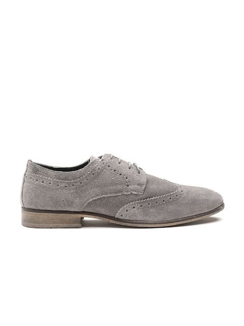 Jack & Jones Men Grey Suede Brogues