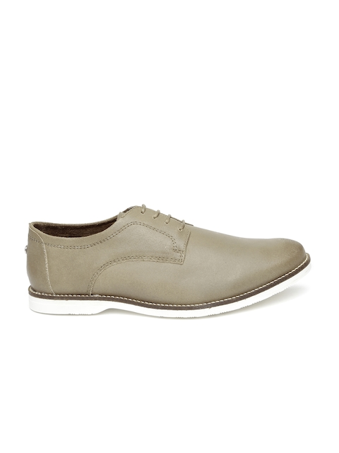Carlton London Men Taupe Formal Shoes