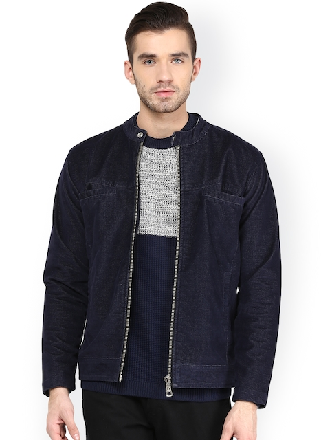 Monteil & Munero Navy Biker Jacket  available at myntra for Rs.1749