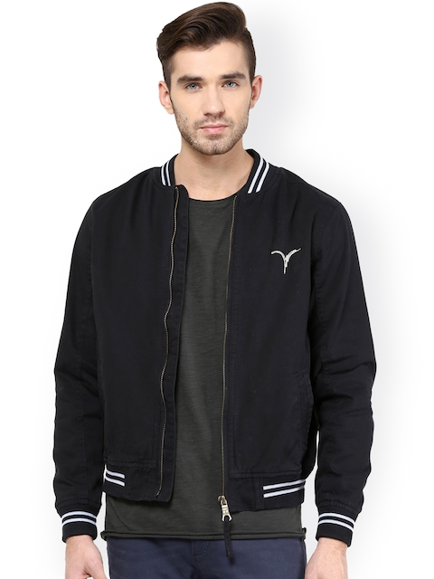 Monteil & Munero Navy Bomber Jacket  available at myntra for Rs.1749