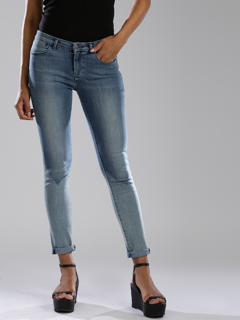 Levis Blue Skinny Fit Stretchable Jeans