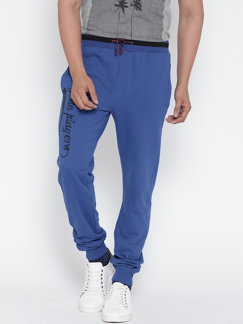 John Players Blue Printed Detail Track Pants