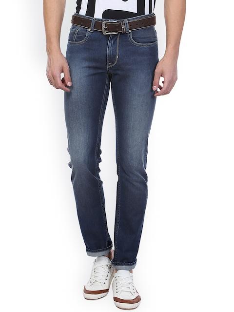 Peter England Men Blue Slim Fit Mid Rise Clean Look Jeans