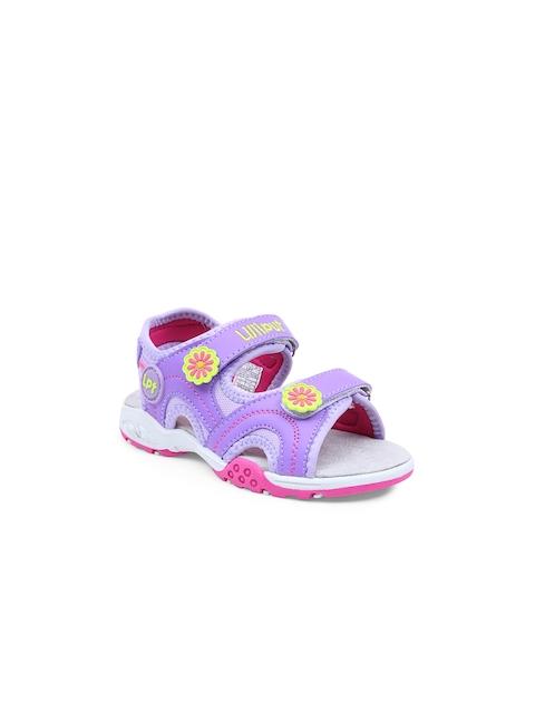 Lilliput Girls Purple Sports Sandals