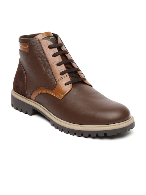 Provogue Men Brown Solid High-Tops Flat Boots