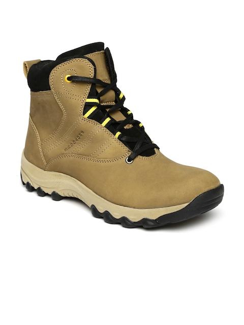 Provogue Men Brown High-Top Flat Boots