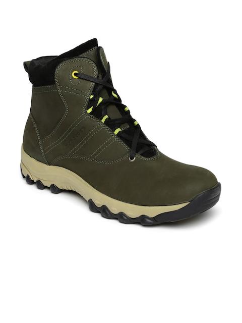 Provogue Men Olive Flat Boots