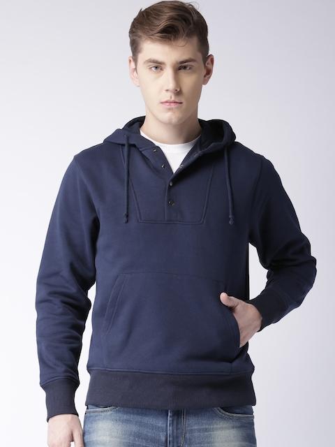 Moda Rapido Navy Hooded Sweatshirt