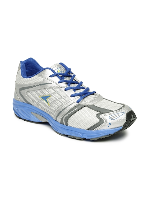 Power Men Silver-Toned Speedy F Running Shoes