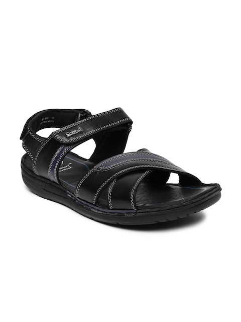 Dr. Scholl Men Black Sam Sandals  available at myntra for Rs.1399