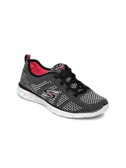 Skechers Women Black Glider Running Shoes