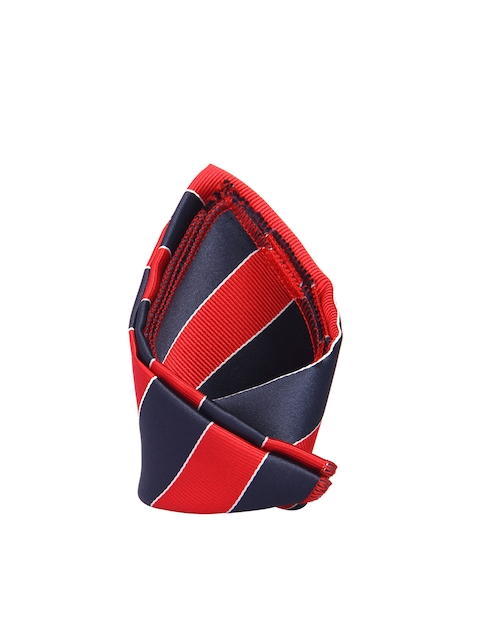 Tossido Blue & Red Striped Pocket Square