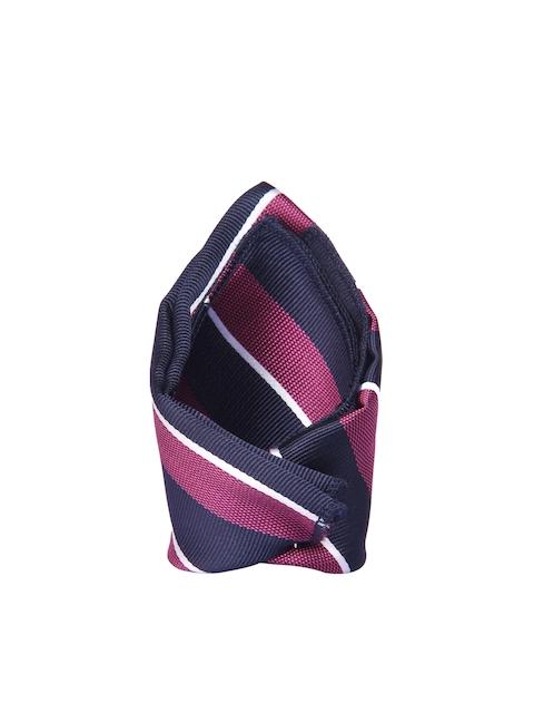 Tossido Navy & Purple Striped Pocket Square