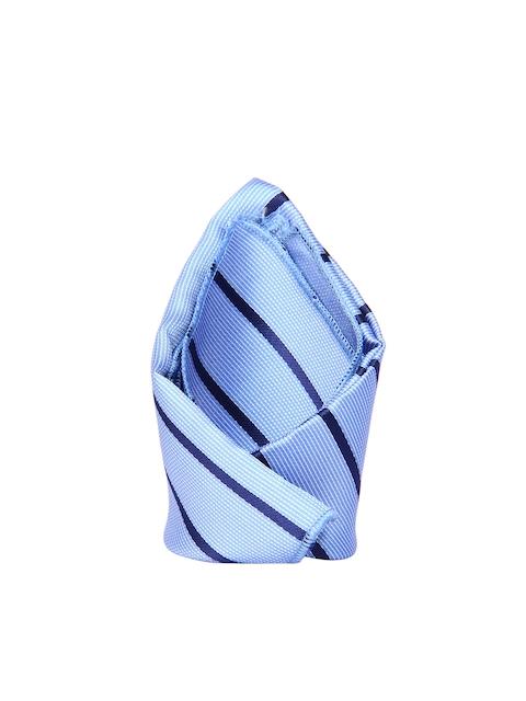 Tossido Blue Striped Pocket Square