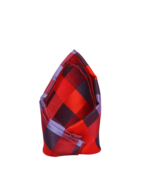 Tossido Red Checked Pocket Square