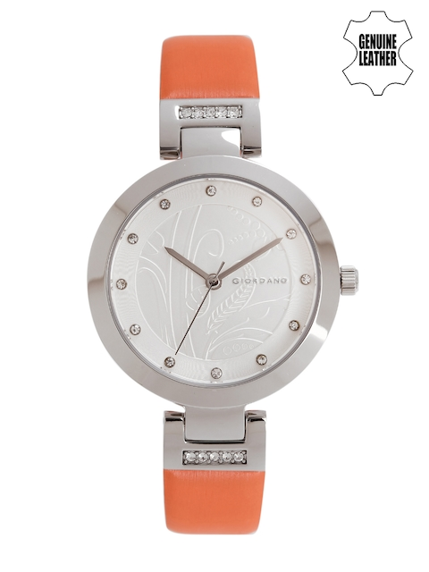 GIORDANO Women Silver-Toned Embellished Analogue Watch 2784-03