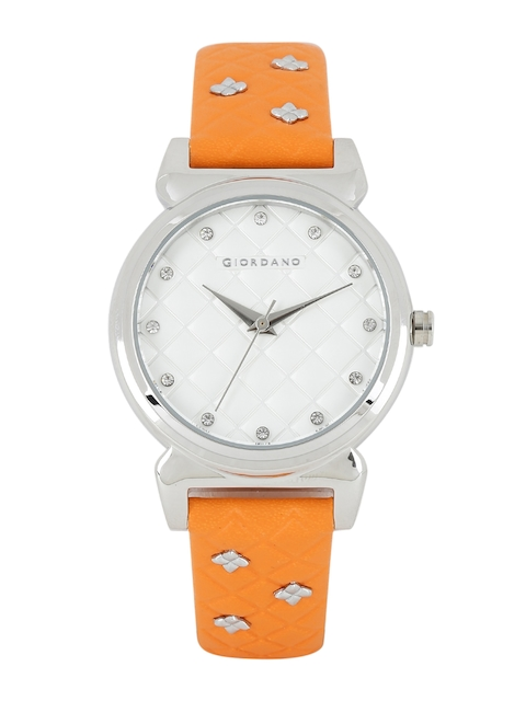 GIORDANO Women Silver-Toned Embellished Analogue Watch 2794-02