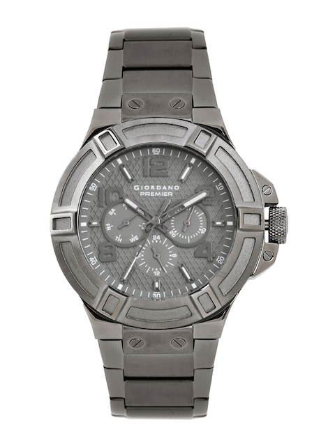 GIORDANO Men Grey Textured Analogue Watch P1059-22