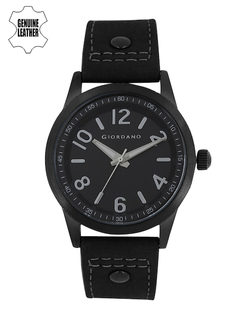 GIORDANO Men Black Analogue Watch A1053-06