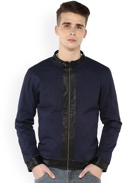 Atorse Navy Biker Jacket