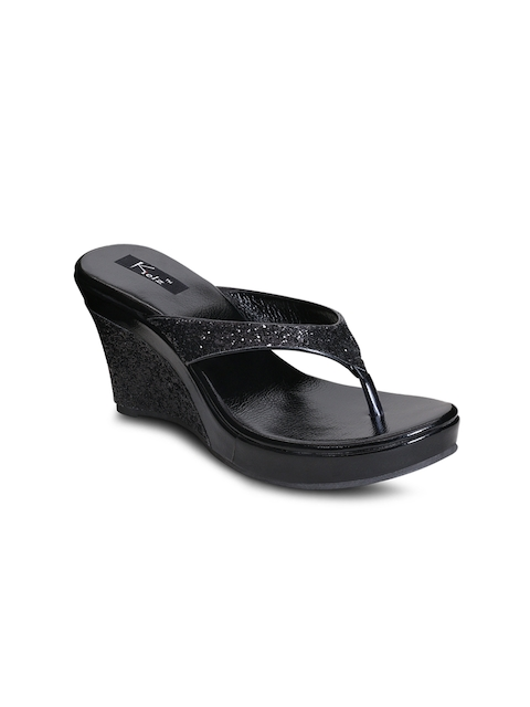 Kielz Women Black Solid Wedges