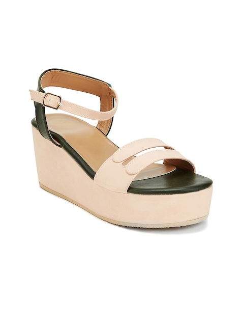 iLO Women Beige Solid Platform Wedges  available at myntra for Rs.879