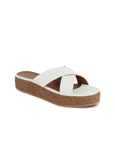 iLO Women White Solid Flatforms  available at myntra for Rs.719