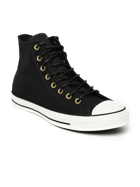 Converse Men Black Solid High tops Sneakers
