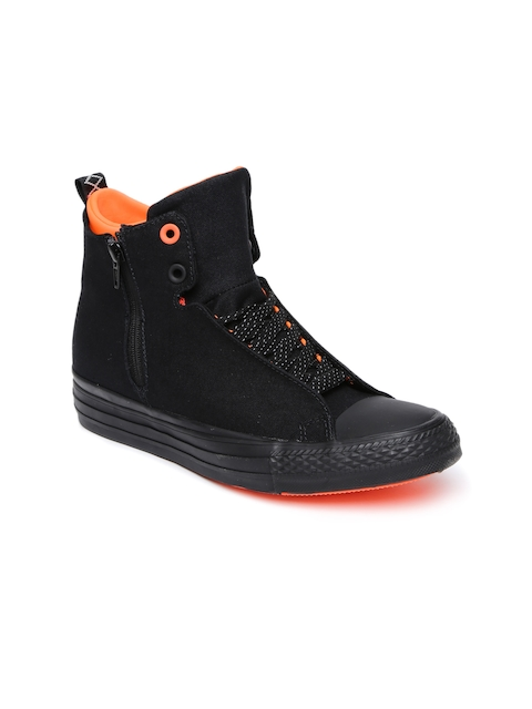 Converse Black Solid High-top Sneakers