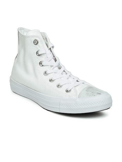 Converse Women White Solid High tops Sneakers