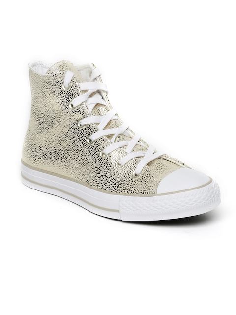 550828685dd8 Converse Women Gold-Toned Woven High tops Sneakers