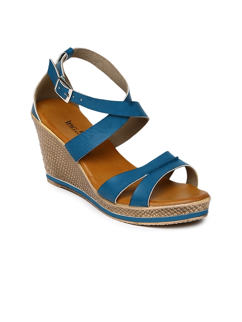 Inc 5 Women Blue Solid Wedges