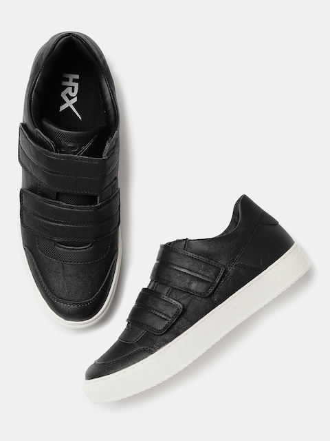 HRX by Hrithik Roshan Men Black Board Life Sneakers