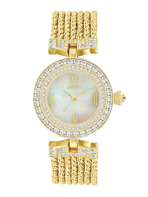 ASPEN Women White Stone-Studded Dial Watch AP1842A