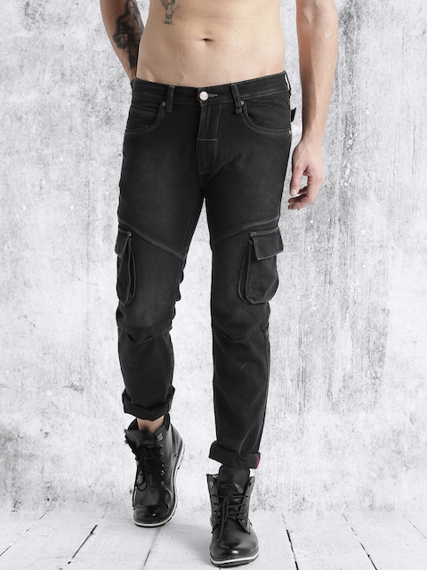 Roadster Men Black Slim Fit Mid-Rise Jeans