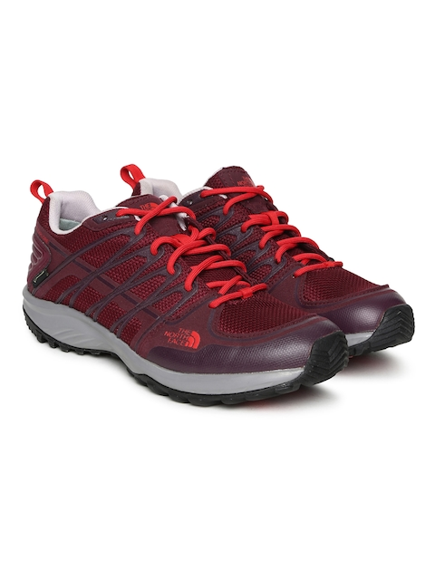 The North Face Women Red LITEWAVE EXPLORE GTX Hiking Shoes
