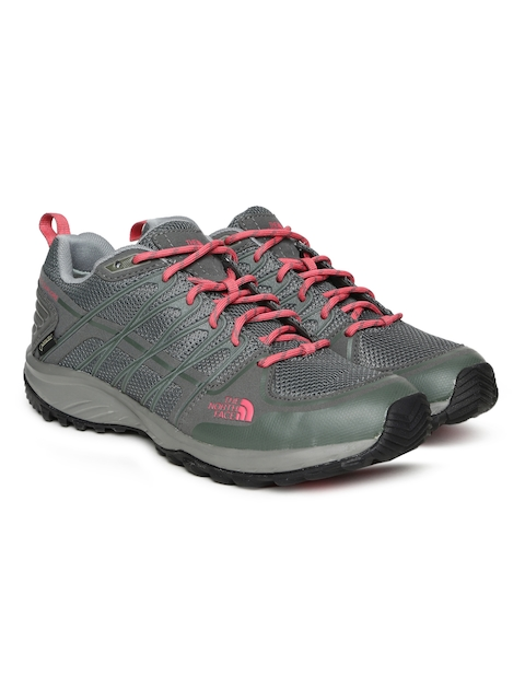 The North Face Women Grey LITEWAVE EXPLORE GTX Hiking Shoes