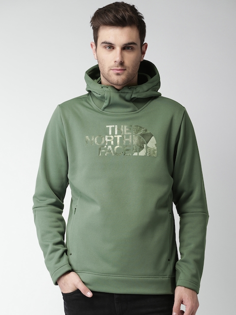 The North Face Green Printed Asian Fit Hooded Sweatshirt