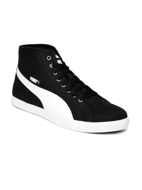 PUMA Men Black & White Elsu v2 Mid CV DP Casual Shoes