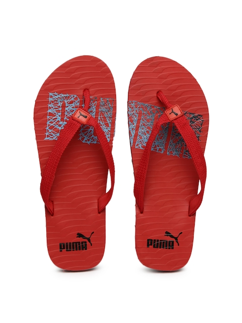 Puma Unisex Red Miami NG DP Printed Flip-Flops  available at myntra for Rs.359