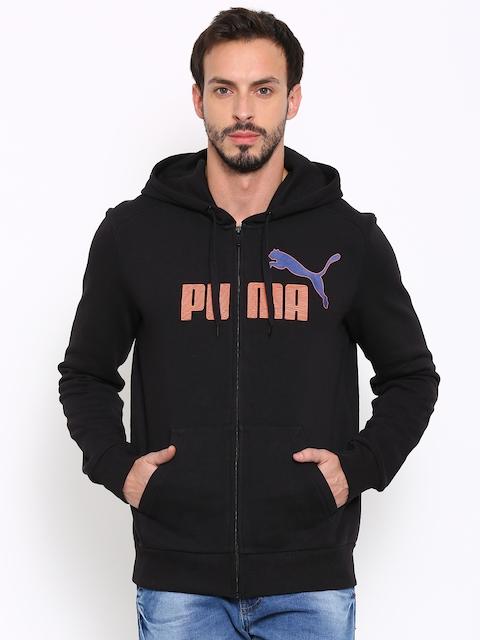 Puma Black Printed Hooded Sweatshirt