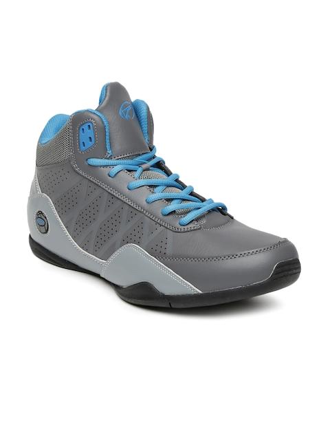 Boltio Men Grey Colourblocked Basketball Shoes