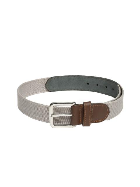 Harvard Men Grey Solid Belt