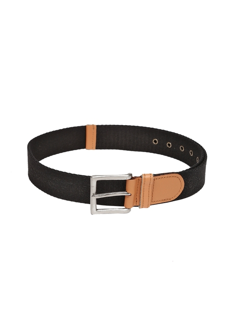 Harvard Men Black Solid Belt