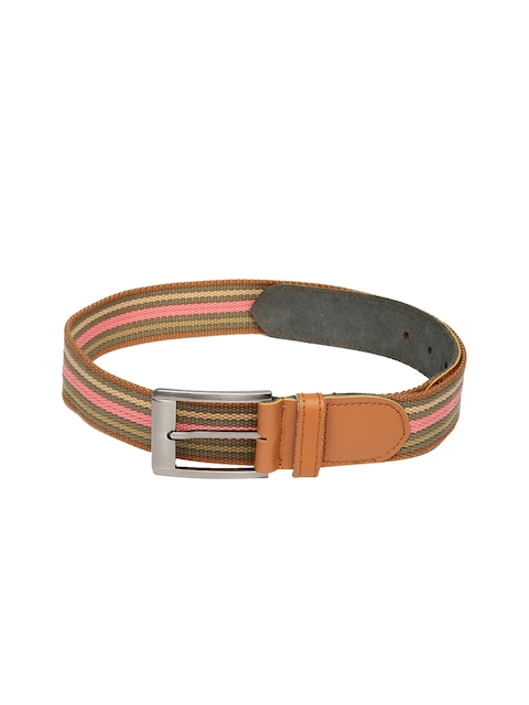 Harvard Men Multicoloured Striped Belt