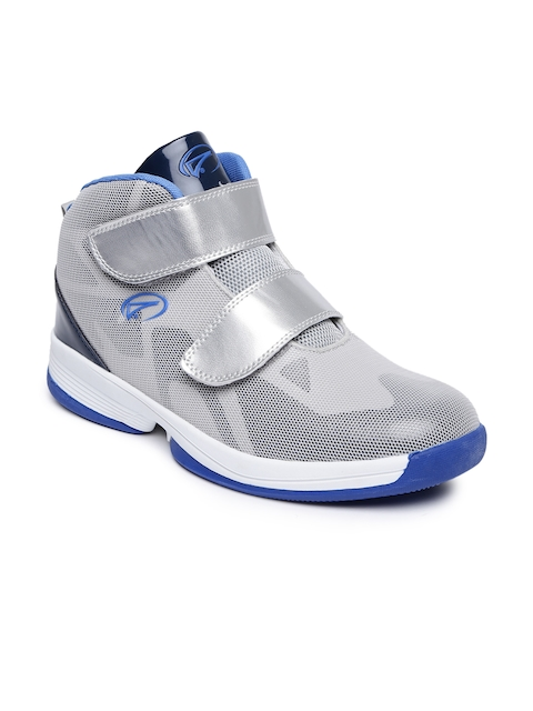 Boltio Men Silver-Toned Basketball Shoes