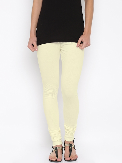 Global Desi Off-White Churidar Leggings