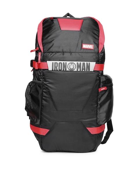 Kook N Keech Marvel Unisex Black & Red Iron Man Backpack