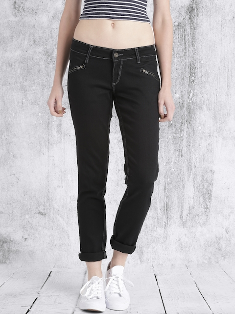 Roadster Women Black Jeggings Fit Stretchable Jeans