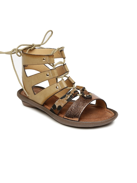 Catwalk Women Bronze Solid Gladiators